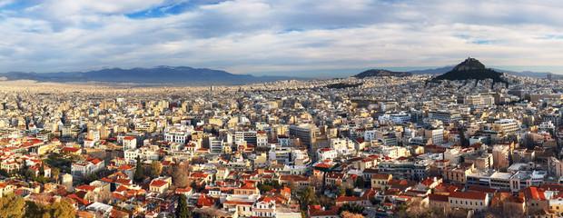 Athens skyline from Acropolis, Greece