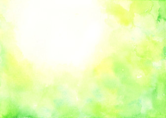 新緑 水彩 背景イラスト