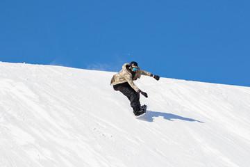 vacanze invernali sulla neve - snowboarder
