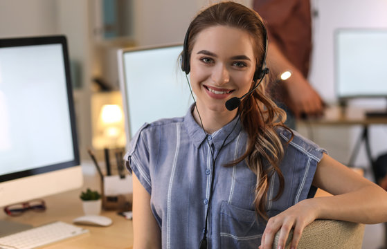 Portrait of technical support agent in office