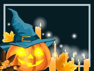 Halloween background with Happy Halloween text.