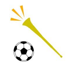 ブブゼラとサッカーボール