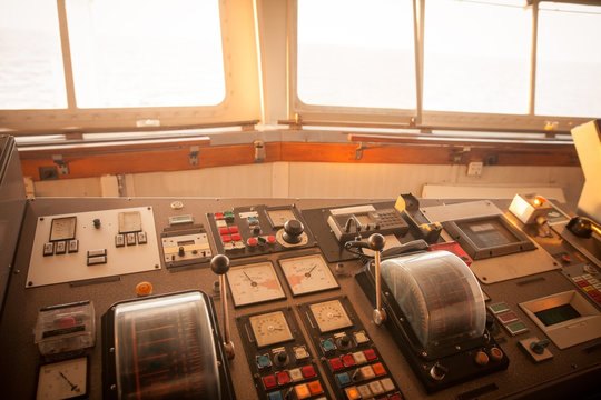 Control panel of a ship