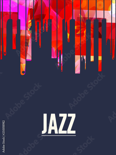 Colorful piano keys vector illustration design  Music