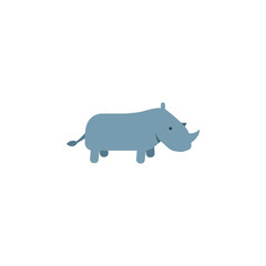 rhino, zoo, animal icon. Element of color African safari icon. Premium quality graphic design icon. Signs and symbols collection icon for websites, web design