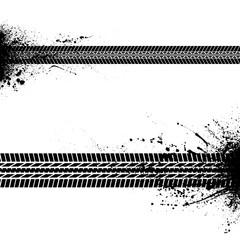 Blots tire tracks