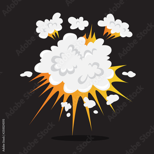 Explosive boom effect  Smoke from the bomb