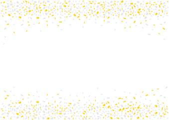 Golden and silver confetti