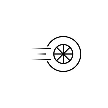 speed wheel icon. Element of speed for mobile concept and web apps illustration. Thin line icon for website design and development, app development. Premium icon