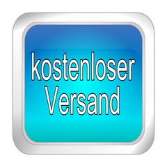 free Delivery Button - in german - 3D illustration