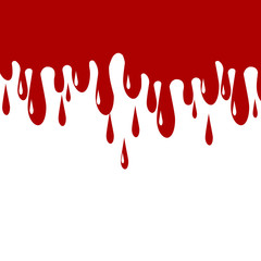 Red Color paint dripping. Blood Drips Vector Illustration
