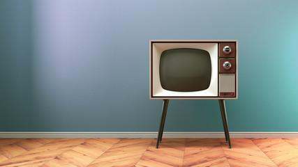 Retro old tv on background 3D illustration Fototapete