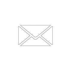 mail, letter. flat vector icon