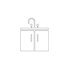 Washbasin. flat vector icon