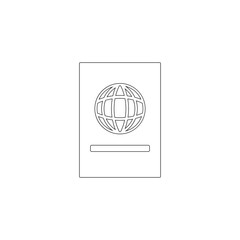 Passport. flat vector icon