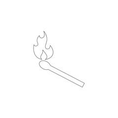 burning match. flat vector icon