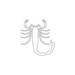 Scorpio. flat vector icon