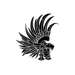a3d11a9dc Amazing outline of the aztec elite warrior wearing an eagle helmet ...