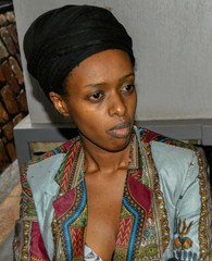 Diane Shima Rwigara, a leading critic of Rwanda's president, is seen after she was arrested by police in Kigali