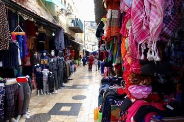 Jordan; the old market streets of Salt