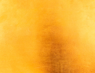 Shiny yellow leaf gold metal texture and background