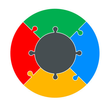 Four Part Circular Puzzle
