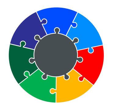 Seven Part Circular Puzzle