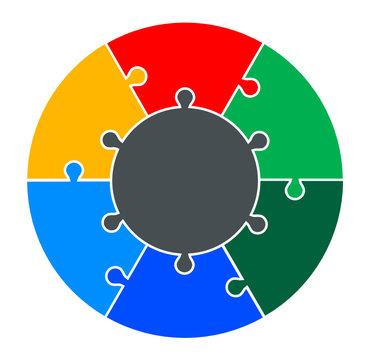 Six Part Circular Puzzle
