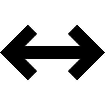 resize arrow on isolated background