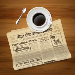 Old Newspaper Vintage  Image