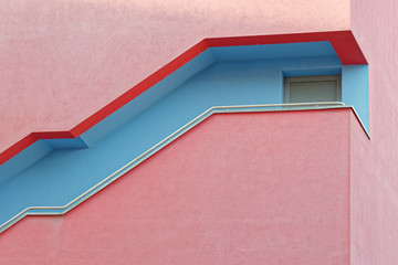 Europe, modern building colorful facade detail