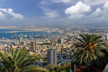 Port of Haifa, Israel.