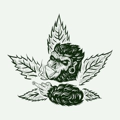 gorilla cannabis amazing design for your company or brand