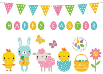 Easter cartoon characters