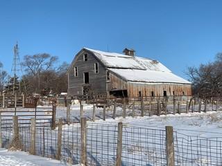 Barn snow scenes