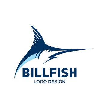 Blue Marlin, Bill fish logo design template
