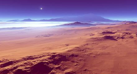 Fototapete - Alien planetary landscape