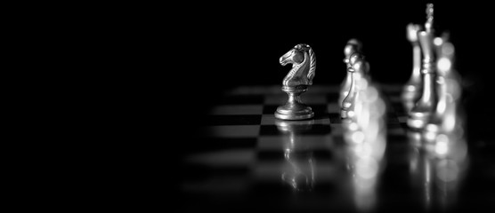 Pieces on chess board for playing game and strategy Wall mural