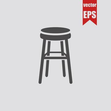 Bar Stool icon.Vector illustration.
