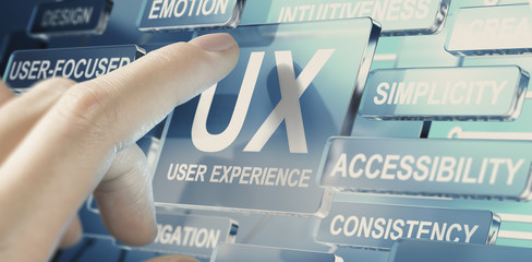 Web, App or Service User Experience, UX Design Concept.