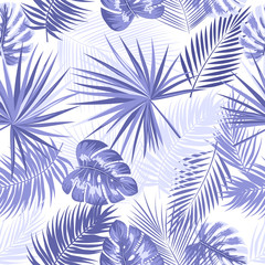 Tropical vector seamless violet pattern.