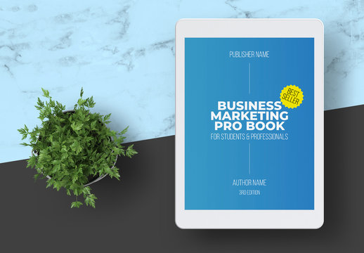 Business Marketing eBook Layout with Blue Accents