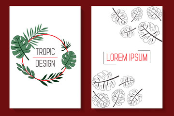 Tropic leaves covers