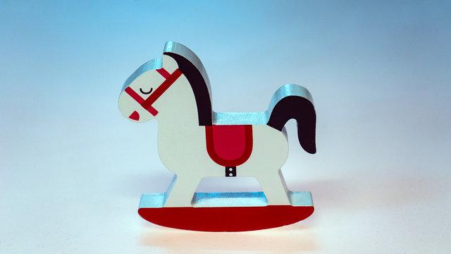 wood mini rocking horse