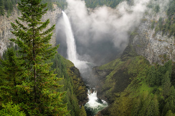 Helmcken Falls with fog, Wells Gray Provincial Park, British Columbia, Canada