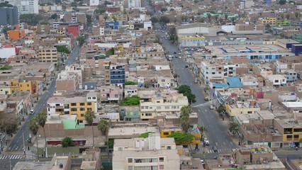 Chorrillos Lima Peru. Slums
