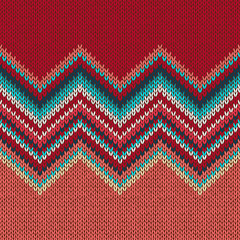 Knitted seamless pattern. Classic Knitwear. Fashion consept background