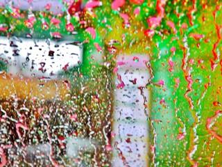 Aus dem Auto in der Waschanlage