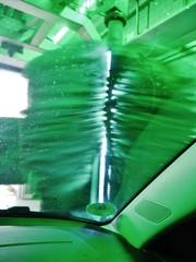 Autowaschanlage mit Bürste