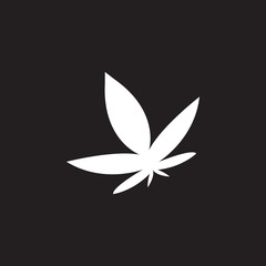 cannabis icon. Simple element illustration. cannabis symbol design template. Can be used for web and mobile